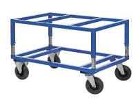 Palettenwagen 1200x100, 1200x1000x655 mm, 800 kg Tragfähigkeit, Blau, mit Bremsen