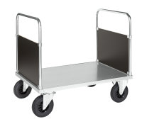Plattformwagen, 930 x 700 mm, 500 kg Tragfähigkeit, Verzinkt, ohne Bremsen