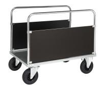 Plattformwagen, 1000 x 630 mm, 500 kg Tragfähigkeit, Verzinkt, ohne Bremsen