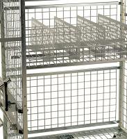 Modul 300 Rückwandgitter, 1290x10x450 mm, Elektrolytisch verzinkt