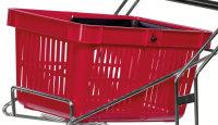 Einkaufswagen, 480x330x250 mm, 15 kg Tragfähigkeit, Rot