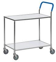 Tischwagen, 2 Ebenen, 850x435x950 mm, 150 kg Tragfähigkeit, in verschiedenen Farben