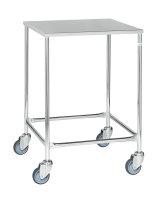Tischwagen, 1 Ebenen, 605x605x885 mm, 150 kg Tragfähigkeit, Verzinkt / Rostfrei