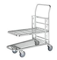 Einkaufswagen, 2 Ebenen, 890x520x1000 mm, 300 kg...