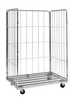 Rollcontainer 3 Seiten, 1200x800x1800 mm, 400 kg Tragfähigkeit, Verzinkt