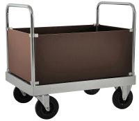 Schwerlast Kofferwagen mit 4 Wänden, 800 kg Tragfähigkeit, Verzinkt / MDF, braun, verschiedene Größen