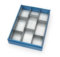Schubladen-Einteilungs-Set , Silber, mit Bremse, für...