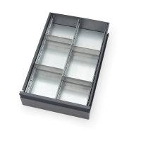 Schubladen-Einteilungs-Set - Zubehör -, Silber, mit...
