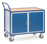 Tischwagen 2633, 1 Ebenen, 1000 x 600  mm, 300 kg Tragfähigkeit, Grau, mit Bremse