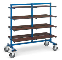 Etagenboden für Tragarmwagen, Blau, 1600 x 370 mm -...
