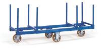 Langmaterial-Wagen 2111, 1500 kg Tragfähigkeit, Blau, mit Bremse