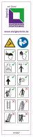 Hinweis-Aufkleber für Klappleitern 2-teilig...