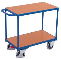Schwerer Tischwagen mit 2 Ladeflächen