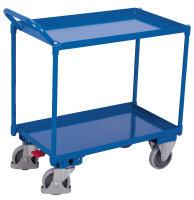 Tischwagen mit 2 Ladeflächen, hoher Griff