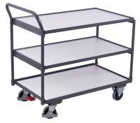 ESD Tischwagen mit 3 Ladeflächen