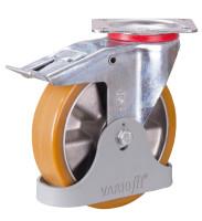 Bremsrolle Polyurethan, 200 x 50 mm
