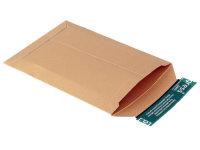 Versandtasche aus Vollpappe braun (TL1 450g) m. Selbstklebeverschluß u. Aufreißfaden, DIN A5, 167x240x -30 mm, Braun