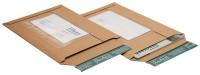 Versandtasche mit Folientasche aus Wellpappe braun (E KL) m. Selbstklebeverschluß u. Aufreißfaden, DIN A4+, 235x337x -35 mm, Braun