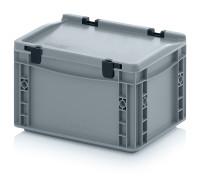 Eurobehälter mit Scharnierdeckel, 300x200x185 mm,...