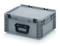 Eurobehälter Koffer 1G, 400x300x185 mm, Silbergrau