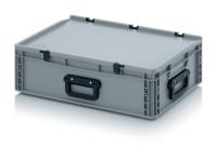 Eurobehälter Koffer 3G, 600x400x185 mm, Silbergrau