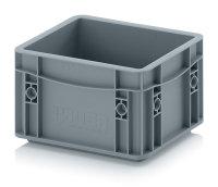 Eurobehälter geschlossen, 200x150x120 mm, Silbergrau