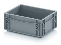 Eurobehälter geschlossen, 300x200x120 mm, Silbergrau