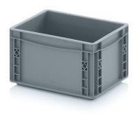 Eurobehälter geschlossen, 300x200x170 mm, Silbergrau