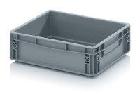 Eurobehälter geschlossen, 400x300x120 mm, Silbergrau