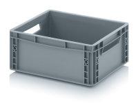 Eurobehälter geschlossen, 400x300x170 mm, Silbergrau