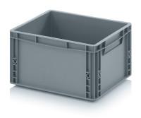 Eurobehälter geschlossen, 400x300x220 mm, Silbergrau