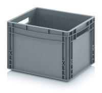 Eurobehälter geschlossen, 400x300x270 mm, Silbergrau