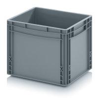 Eurobehälter geschlossen, 400x300x320 mm, Silbergrau