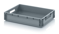 Eurobehälter geschlossen, 600x400x120 mm, Silbergrau