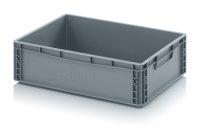 Eurobehälter geschlossen, 600x400x170 mm, Silbergrau