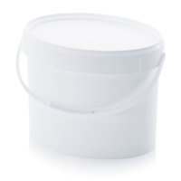 Eimer oval, 391x301x280 mm, Weiß