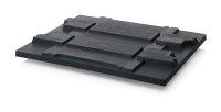 ESD-Paletten-Auflagedeckel KLT, 1210x1010 mm, Schwarz