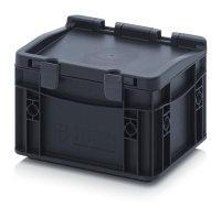 ESD-Eurobehälter mit Scharnierdeckel, 200x150x135...