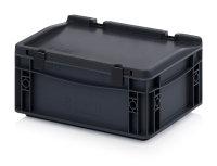 ESD-Eurobehälter mit Scharnierdeckel, 300x200x135...