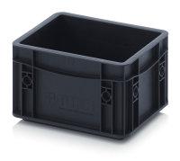 ESD-Eurobehälter, 200x150x135 mm, Schwarz