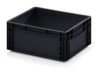 ESD-Eurobehälter, 400x300x170 mm, Schwarz