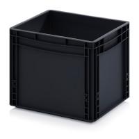 ESD-Eurobehälter, 400x300x320 mm, Schwarz