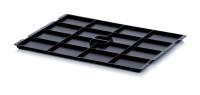 ESD-Deckel für KLT-Behälter, Schwarz