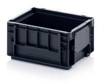 ESD-R-KLT-Behälter, 300x200x150 mm, Schwarz