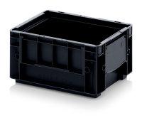 ESD-RL-KLT-Behälter, 300x200x147 mm, Schwarz