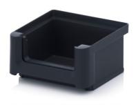 ESD-Sichtlagerkästen SK, 85x102x50 mm, Schwarz