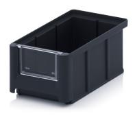 ESD-Sichtlagerkästen SK, 160x102x75 mm, Schwarz