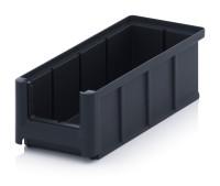ESD-Sichtlagerkästen SK, 220x102x75 mm, Schwarz