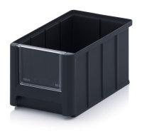 ESD-Sichtlagerkästen SK, 225x150x125 mm, Schwarz