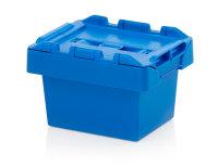 Mehrwegbehälter mit Deckel, 300x200x190 mm, Himmelblau